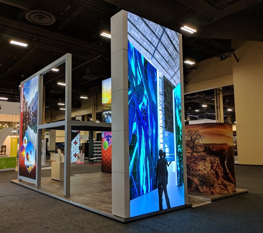 Example of LED Wall at ExhibitorLive 2018
