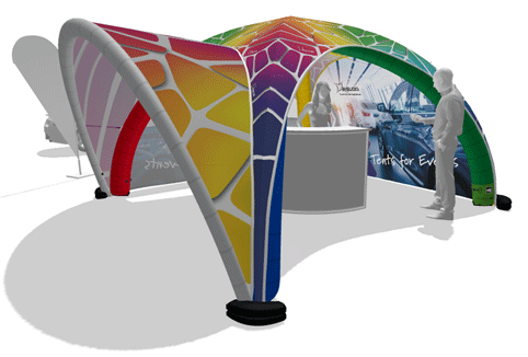 Inflatable Portable Tent Displays from Apple Rock image
