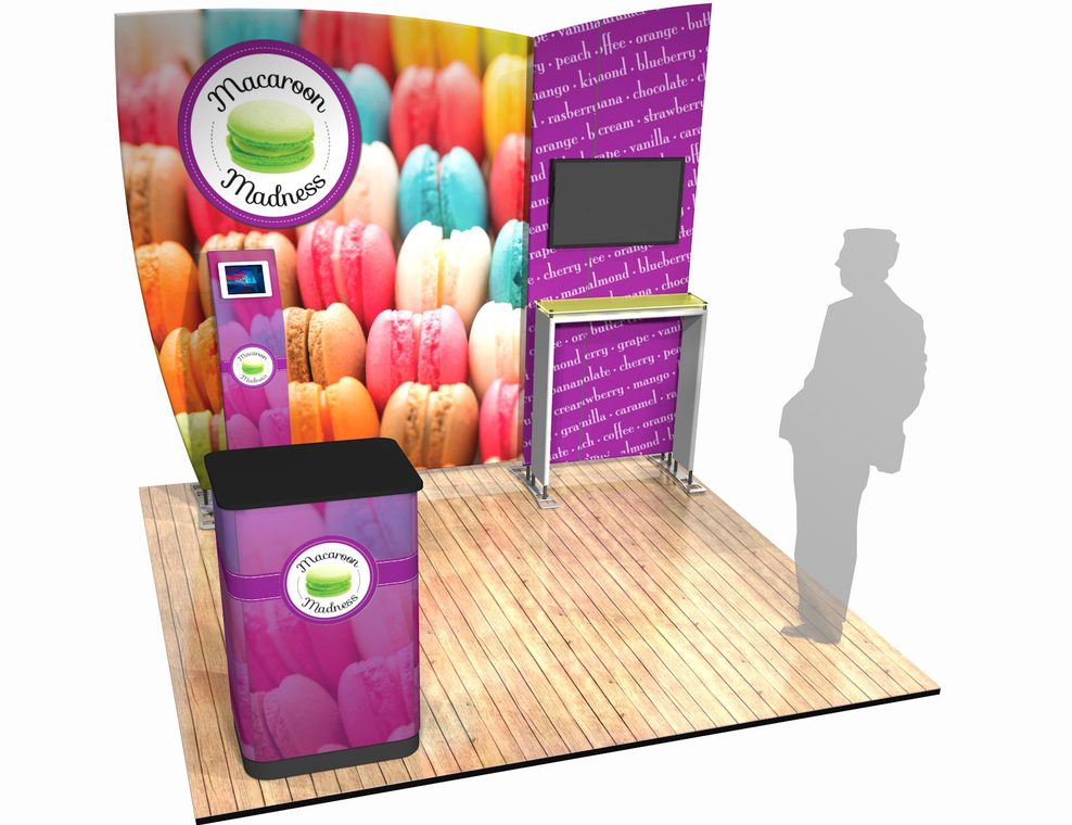 Portable trade show display system