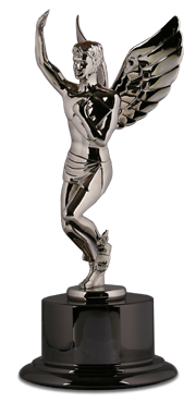 Apple Rock Platinum Hermes Award Statuette