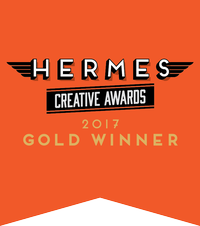 Apple Rock Hermes Gold Award Badge