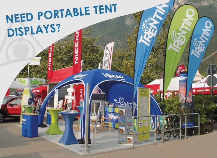 Portable Exhibition Tents : Need portable outdoor displays inflatable tents solve