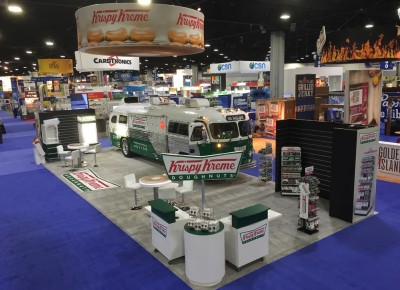 Krispy Kreme Custom Rental Island Conference Display